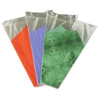 Green / Purple / Orange Banquet Flower Wrapping Sleeves , Flowers Wrap Bags