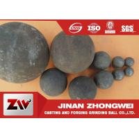 Quality 40mm 60mm B2 Material forged grinding ball media , steel balls for ball mill for sale