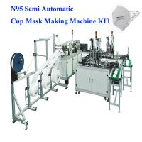 Quality Semi Automatic N95 Cup Mask Making Machine KIT for making N95, KN95, FFP2,FFP3 Cup Medical Mask, video support service for sale