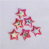 Quality Flashing Stars Applique Crafts Christmas Holiday Embellishment With Logo for sale