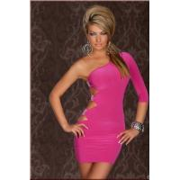 China Royal Pink Dress with Cutout Side and Silver Accents Mini Dress Evening dress Sexy women nightwear skirts on sale