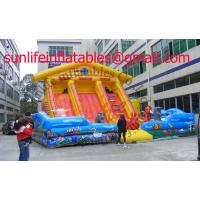 Quality Inflatable Bouncy Castle With  Fun City And  Moonwalk Bounce For Adult And Childhood for sale