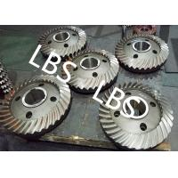 China High Pressure Double Helical Gear Electric Water Pump Gearbox Parts Big Spiral Bevel Steel Material on sale