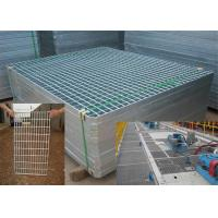 China Mild Steel Grating Plate Anti Skid , Light Weight Metal Grate Sheet For Stair Tread on sale