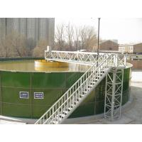 Quality Round Glass Lined Steel Water Storage Tanks 0.25 - 0.45 Mm 30 Years Service Life for sale