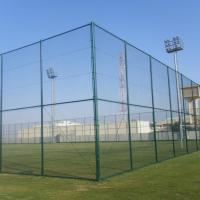 Quality 200*50mm PVC Coated Chain Link Mesh Fence Panels For Playground for sale