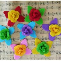 Quality Hat Decoration Folded Fabric Flowers Fabric Flowers Fancy For Headbands for sale