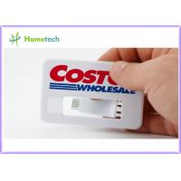 Buy cheap White Business Card USB Memory Disk full Color Logo , Real Storage 4GB Credit from wholesalers