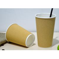 16oz 20oz Takeaway Triple Wall Paper Cups With Lids , Logo Custom Printing