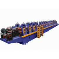 Quality Gearbox Driven Storage Rack Roll Forming Machine For Shelf Side Panel for sale
