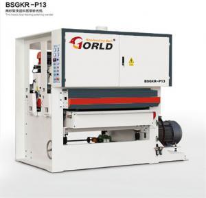 Quality BSGKR-R13 Two Heads Fast Speed Feeding Plywood Veneer Finishing Polishing Sanding Machinery for sale