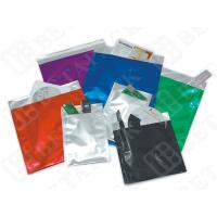 China Red / Blue / Green PE Film / Aluminum Foil Envelopes With Self Seal Closure on sale