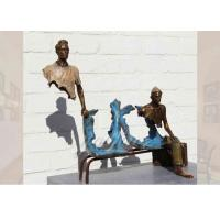 Quality Life Size Casting Finish Traveler Bronze Sculpture For Garden , Bruno Catalano Sculpture for sale