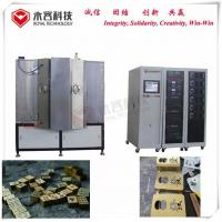Quality Matte Gold Plating Machine,304 / 316 Stainless Steel Cathodic Arc Deposition System For Metal Brushing Gold Coating for sale