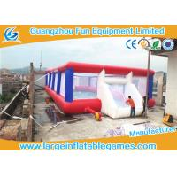 China 0.55mm Tarpaulin Inflatable Football Pitch Bubble Pitch With Netting on sale