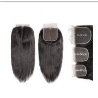 Quality 4X4 5x5 6x6 Straight Cambodian Virgin Hair Lace Closure Natural Color for sale