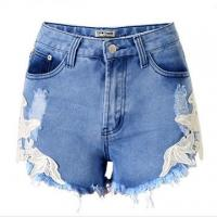 Quality Short Denim pants for women with lace for sale