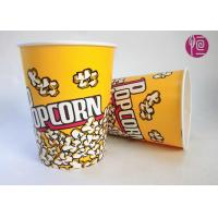 Quality 32oz Single Wall Double PE Disposable Popcorn Buckets / Flexo Print for sale