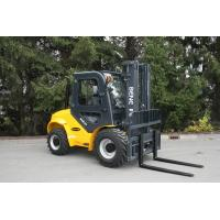 China BENE cross-country forklift 3.5 ton rough terrain forklift truck with 3500mm duplex mast on sale