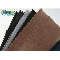 China Soft Polyester Lining Needle Punch Nonwoven Fabric Roll For Garment Collar on sale