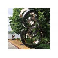 Quality Spiral Contemporary Garden Decoration Stainless Steel Mirror Sculpture for sale