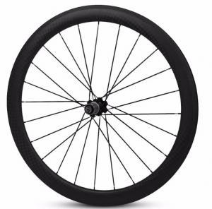 Quality Lightweight Bicycle Carbon Tubular Wheelset 700c road bike rim 50 / 60 / 88mm for sale