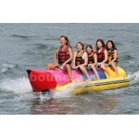 Quality Inflatable Banana Boat For 5 Persons , Inflatable Towable Water Tube for sale
