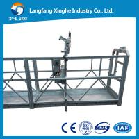 Buy cheap Temporary aluminum gondola , zlp630/zlp800 mast climbing suspended platform , suspended access cradle from wholesalers