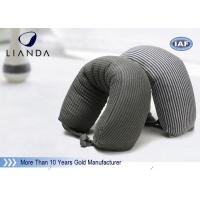 Quality Gray Microbeads Car Neck Rest Pillow With Lycra Cover , 100% Polyester Materials for sale