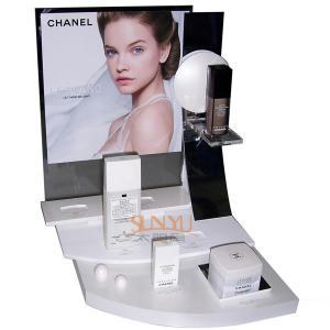 Buy Plexiglass Cosmetic Makeup Organizer Retail POS Displays White Retail Ladder at wholesale prices