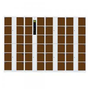 China Digital Fingerprint Safe Locker , 48 Door 0.5 - 1.2mm Security Safe Locker on sale