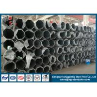 Quality Flange Connected Dodecagonal Galvanized Transmission Line Steel Tubular Pole for sale