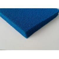 China Good Resilience Smooth Open Cell Silicone Foam Rubber Sheet In Blue , Red Color on sale