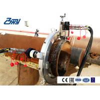 Stainless Steel Pneumatic Pipe Cutting And Beveling Machine Split OD Mount