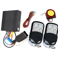 Quality 1 Way Motorbike Alarm System Motorcycle Immobilizer With Remote Sound Mute Arm / Disarm Feature for sale