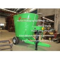 Quality 12 Cubic Meter Mobile TMR Feed Mixer Machine For Mixing Hay / Grass / Green for sale
