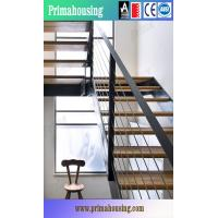 China High Quality Solid Wood Staircase Price With Wrought Iron Balustrade on sale