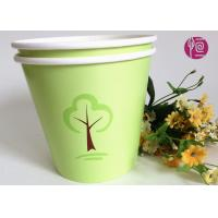 Quality Green 32oz Custom Flexo Print Round  Paper Container For Plant for sale