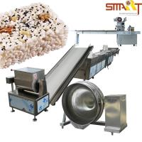 Quality Full Automatic Cereal Bar / Snack Bar Machine For Puffed Rice Bar Cut for sale