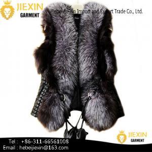 Quality Custom Women Genuine Fur Waistcoat Whole Skin Real Fox Fur Vest for sale