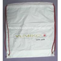 Quality White Lightweight Durable Drawstring Storage Bags With Two PP Drawstring for sale