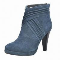 Quality 2012 leather fashionable winter boots with rubber sole for sale