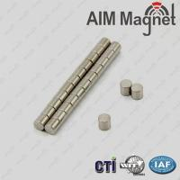 China n35 ndfeb magnet cylindre 3mm x 4mm on sale