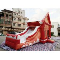 Quality Commercial grade inflatable Christmas jumping castle with slide for kids and adults for sale