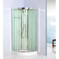 China Curved Corner Shower Units Free Standing Shower Cubicles For Small Bathrooms on sale