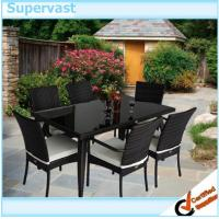 Rattan Outdoor Furniture Dining Sets , PE Wicker Dining room table sets