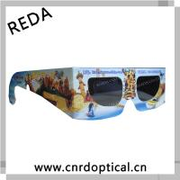 China custom paper anaglyph for cinema or home theater cheap high quality 3d paper circular polarized glasses on sale