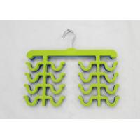 Hign End Blue Velvet Flocked Hangers , Closet Tie Hanger With Chrome Hooks