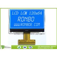 STN Blue Negative LCD Display , Monochrome COG Customized 128x64 Lcd Module