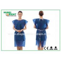 Quality PP Nonwoven Disposable Isolation Gowns , disposable patient gowns without Sleeves for sale